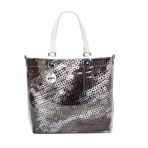 BI-BAG borsa donna modello EASY DIAMOND + pochette interna Bronzo
