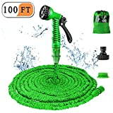 Expandable Garden Water Hose Pipe- Liwiner 100FT 3 Times Expanding Flexible Magic Lightweight