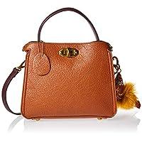 Zeneve London Womens Satchel Bag, Brown - 1191830961