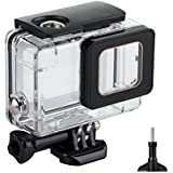 WAGOLO Waterproof Housing Protective Case Cover With Gold Line For Gopro Hero 5 Sport Camera-Underwater 45 Meters