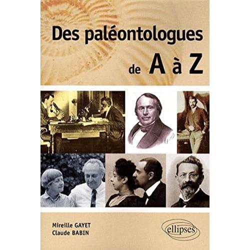 Des Paleontologues De A A Z