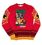 Red DC Comics Batman Deck The Halls Knitted Christmas Jumper