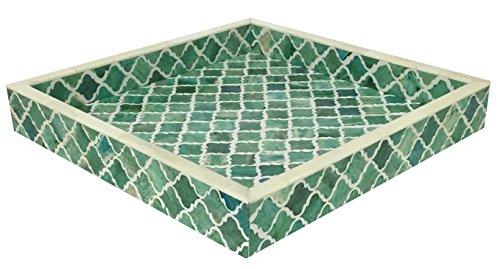 Vassoio decorativo piatti colazione tavolino top Moresco Moroccan pattern naturali
