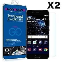 PACK 2 Protector pantalla de cristal templado Premium para Huawei P8 Lite 2017