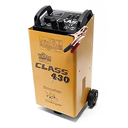 51i3mrD2HZL. SS416  - WilTec Boost 430 cargador arrancador carga bateria arranque 12V 24V Motocicleta Camión