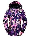 Femmes Encapuchonné Softshell De plein air Imperméable Camouflage Veste de Ski Randonnée Manteau Rose M
