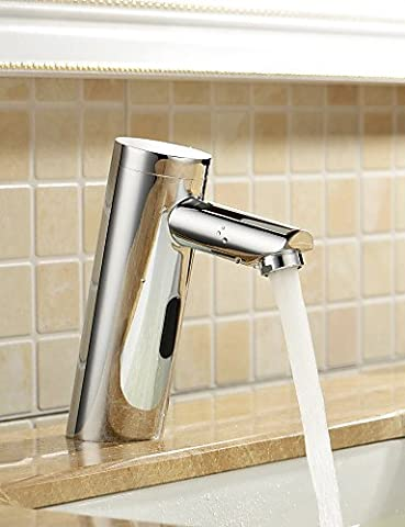 Hjkdgh robinet de salle de bain Lavabo Robinets contemporain Touch/sans contact Laiton chromé
