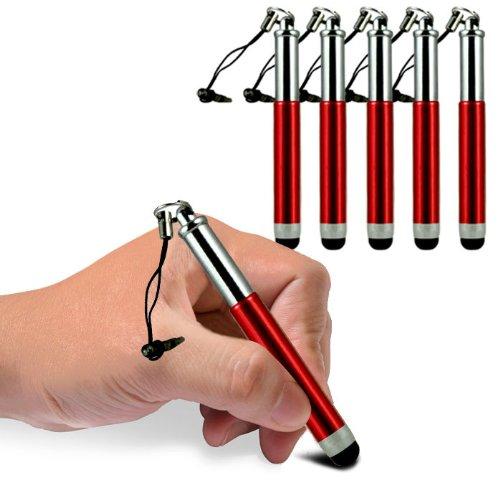 Blackberry Z3 Mini Retractable Einstellbare kapazitiven Stylus Touch Pen (5 Stück) von Fone-Case (Rot) von Fone-Case 5 Blackberry Case
