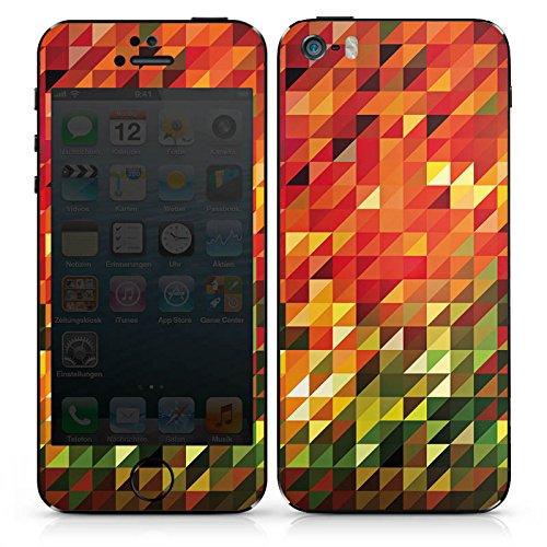 Apple iPhone SE Case Skin Sticker aus Vinyl-Folie Aufkleber Kristalle Herbst Abstrakt DesignSkins® glänzend