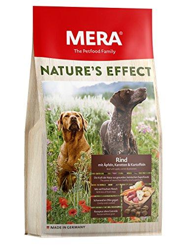MERA Nature\'s Effect, Getreidefreies Hundefutter, Premium Trockenfutter für Hunde mit Rind, Äpfeln, Karotten und Kartoffeln