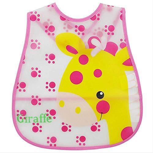 FHFF Schürze Baby Eva Waterproof Lunch Feeding Bibs Newborn Baby Cute Cartoon Feeding Cloth Towels ChildrenGiraffe -