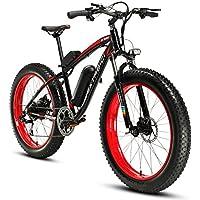 Cyrusher Extrbici XF660 48V 500 vatios negro rojo Mens bicicleta eléctrica Mountain Bike 7 velocidades bicicleta