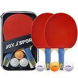 Joy.J Sport Tischtennis-schläger, Tischtennisset mit 2 Schlägern und 3 Bällen, fortschrittliche Tischtennis Schläger für Heim- und Außen Spiele