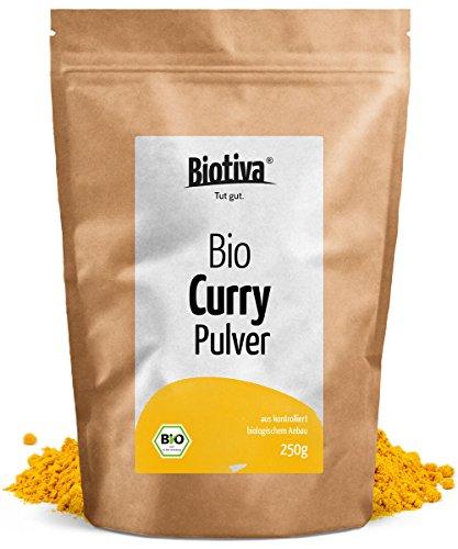 Edel Curry gemahlen (250g, Bio) I Mild-Intensiv nach altem indischen Hausrezept I Top-Qualität ohne Geschmacksverstärker oder künstliche Zusätze I 100{74455de746e4dfd9367f713c741dc8f257148a0bcc5bf10cc440559c1f14dbe6} Bio-Zutaten