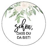 48 x Aufkleber 40 mm Hochzeit Gast Greenery Gastgeschenk Etikett 174420