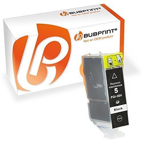 Bubprint Druckerpatrone kompatibel für Canon PGI-5BK für Pixma IP3300 IP3500 IP4200 IP4300 IP4500 IP5200 IX4000 MP510 MP600 MP610 MP970 MX700 Schwarz (Pixma Canon Mp970)