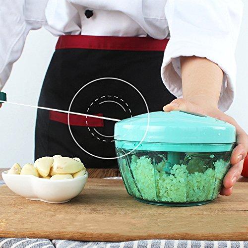 KOK Manual Vegetable Fruit Chopper Hand Pull Food Chopper Onion Nuts Grinder Portable Kitchen Accessories Portable Mincer Crank Chop