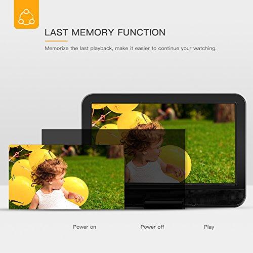 """APEMAN 7,5"""" Tragbarer DVD-Player mit 4 Stunden Akku Drehbarem Display Unterstützt SD-Karte USB AV OUT/IN Spiele-Joystick - 4"""