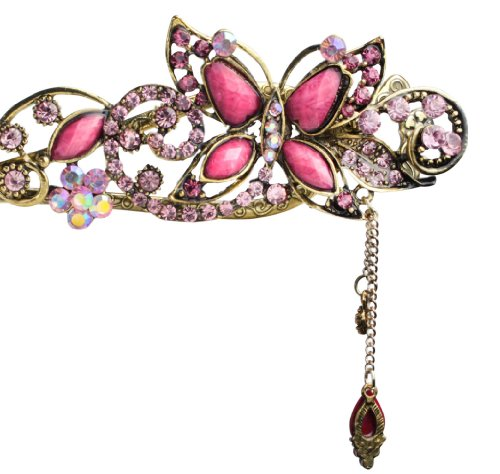 Oyang Imported Lovely Vintage Jewelry Crystal Butterfly Hairpins Hair stick for hair Beauty Tools