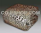 Edredón individual media de invierno 1 1/2 edredón edredón con aspecto de piel de leopardo