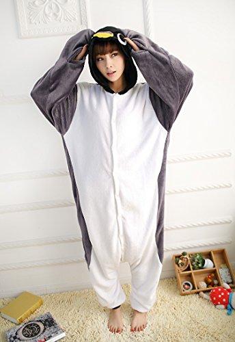 Ferrand Kigurumi Pigiama Unisex Adulto Cosplay Costume Animale Pigiama Dinosauro Verde Grigio Penguins