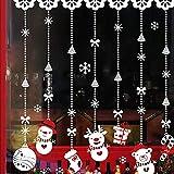 Weihnachts Sticker Wandaufkleber Fenster Aufkleber PVC Abnehmbar Schneeflocke Sticker Verzierungen Weihnachten Dekoration für Urlaub und Party
