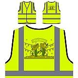 Festa Junina Neues Festgeschenk Personalisierte High Visibility Gelbe Sicherheitsjacke Weste e937v