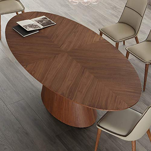 Mesa ovalada para 10 personas de madera oscura.: Amazon.es: Hogar