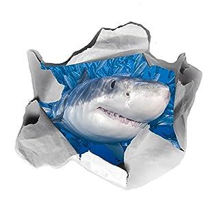 3D-Aufkleber, Hai-Motiv, lustiger WC-Sitz-Aufkleber, Transfer-Aufkleber, für Badezimmer, von AOA®
