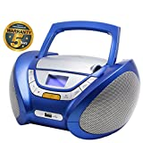 Lauson CP446 CD-Radio mit CD MP3 USB Player Tragbares Kinder Radio Boombox tragbarer CD Player, Blau