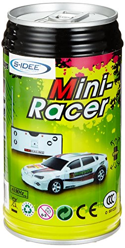 [Zufallsfarbe] Mini RC Raser ferngesteuertes 1: 63 Auto, Coladose Verpackung, Fernsteuerung mit Ladefunktion inkl. Zubehör