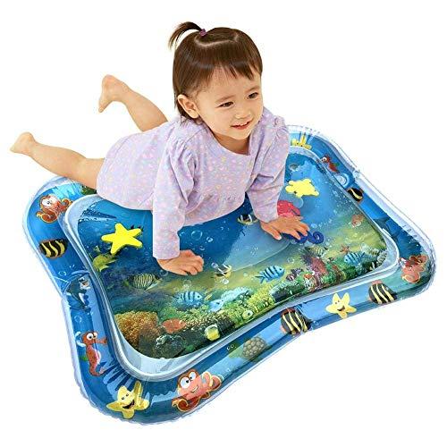 CSPone | 66x50cm Wassermatte Baby groß, Spielmatte für Kinder aufblasbare, Baby Spielzeug, BPA-frei, Auslaufsicher, Neugeborene Spaß Sommerkühlung Spielzeug