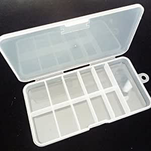 Boîte de rangement en plastique de 11 compartiments pour les bouts d?ongles