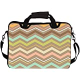 """Snoogg Aztec Designs 15"""" 15.5"""" 15.6"""" Inch Laptop Notebook SlipCase With Shoulder Strap Handle Sleeve Soft Case With Shoulder Strap Handle Carrying Case With Shoulder Strap Handle For Macbook Pro Acer Asus Dell Hp Sony Toshiba"""