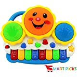 Smart Picks Drum Keyboard Musical Toys With Flashing Lights
