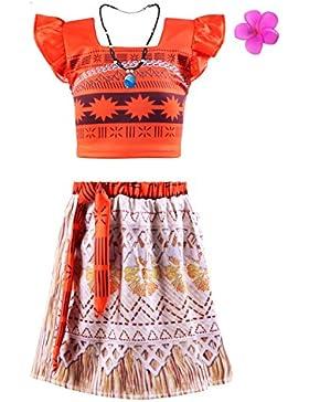 Viniolves Mädchen Kleid Prinzessin Vaiana Kostüm Party Kleid