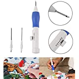 Kurtzy Punch Needle Tool Pen Kit Set For Embroider Craft Sewing With E-Book