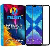nzon Tempered Glass 6D Edge2Edge 2.5D Curve Anti Fingerprint 0.33 mm Screen Protector for Honor 8X -Black