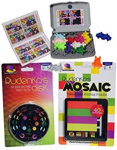 iq-brain-teaser-puzzle-bundle-no-66-rudenkos-disk-rudenkos-mosaic-cosmic-creature-3-unique-puzzles-b
