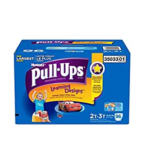 Huggies Pull-Ups Training Pants for Boys, Size 2T-3T (18-34 lbs.), 96 ct.