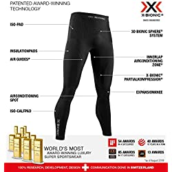 X-Bionic Energy Accumulator 4.0 Pants Men Capa De Base Pantalones Funcionales, Hombre, Black, M