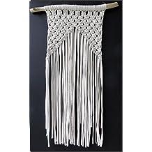 Tapiz de macrame con algodón ecológico