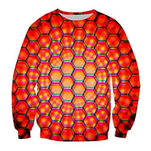 Unisex 3D Print Schwarz Rot Chrom Metallgitter Metall Schwindel T Shirt/Sweatshirt/Hoodie Harajuku Top 2 Asian Size XXXXL (Cherokee Herren T-shirt Schwarz)