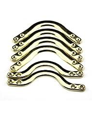 Lot de 6 angles en métal pour table de billard américain Doré