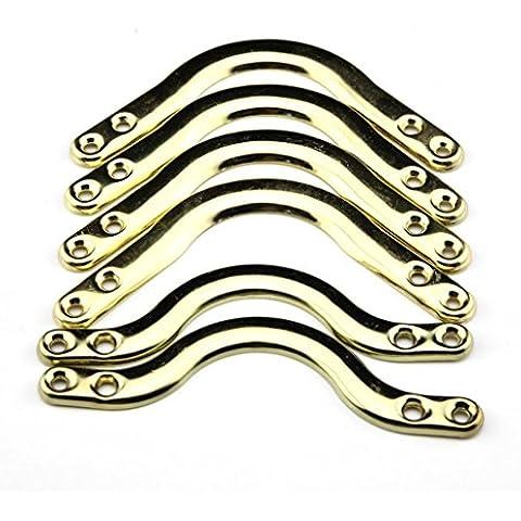 Metal-Tavolo da biliardo americano Biliardo Pool angolo, confezione da 6, colore: oro