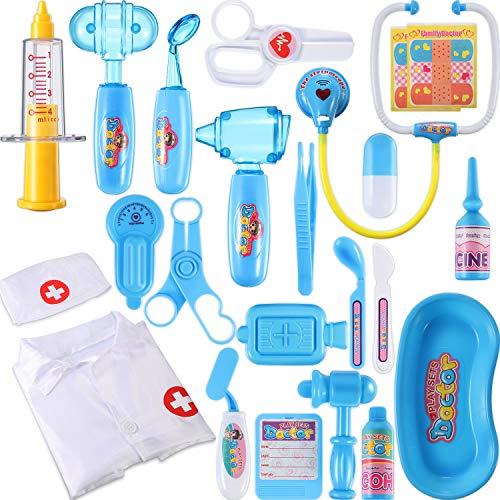 Chuangdi 24 Stück Arzt Kit für Kinder Realistische Medizinische Spielzeug Play Pretend Set Arzt Dress Up Kit für Kleinkind Arzt Ausrüstung