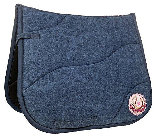 HKM Sports Equipment Little Sister Schabracke -Princess Denim-, Jeansblau, Pony Dressur