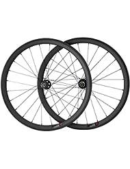 VCYCLE 700C - Juego de Ruedas para Bicicleta de Carretera (38 mm, 28 Orificios