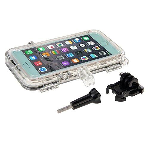 Phone case & Hülle Für iPhone 6 / 6s, Extreme Sports Wasserdichte Tasche mit 170 Grad Weitwinkelobjektiv Kompatibel mit GoPro Zubehör ( Color : Gold ) Black