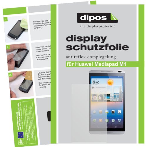 dipos I 2X Schutzfolie matt passend für Huawei MediaPad M1 8.0 Folie Displayschutzfolie